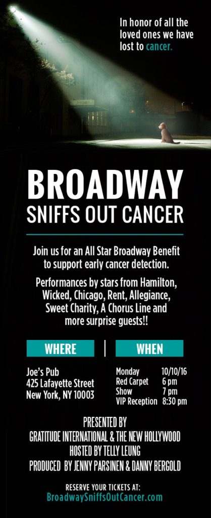 Broadway Sniffs Out Cancer